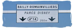Schild Disneyland Resort Paris