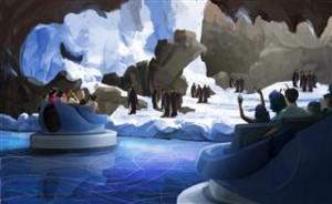 Antarctica, die kälteste Attraktion der Welt, führt durch eine Pinguinkolonie.